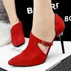 Synthetic Pointed Toe Suede Elegant Lady Short Boots Women High Heel Pumps Shoes