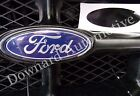 Gloss Black Wrap Vinyl Decal -Oval Cut to Cover(Overlay)Ford Emblem