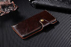 100% Genuine Leather Snaps Wallet Card Slot Case Cover For iPhone 7/7Plus