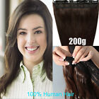 200g 180g so THICK heavy one piece clip in 100% remy real human hair extensions