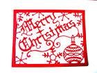 4 Merry Christmas Frame/Topper Die Cuts,Snowflake. Cl. Any Colour/Card