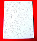 5 Stitched Whirl Background Frame Christmas Die Cuts, Snow/Wave Any Colour/Card