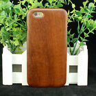 Natural Real Sapele Wood Wooden Hard Case Cover for iPhone 6 / 6S / 7 or Plus