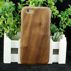 Natural Real Walnut Wood Wooden Hard Case Cover for iPhone 6 / 6S / 7 or Plus