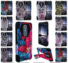 For ZTE Z MAX PRO ZMAX Pro Carry Z981 Design Hybrid T Kickstand Cover Case