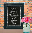 Thank You Mum personalised Gift  Sign Chalk Board print Style Vintage aa108