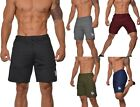 Men's Yoga Running Shorts Zipper Pockets Dri Fit Fitness Gym