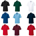New RUSSELL Hard Wearing 60*C Wash Polo-Shirt in 11 colours XS - 6XL