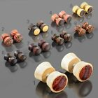 1 Paar Holz Fake Plugs Ohrstecker Ohrpiercing Ohrringe Flesh Tunnel Plug Z508