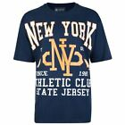 KAM Pure Cotton New York Tee Shirt (594) in Navy in size 2XL to 6XL