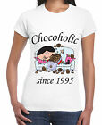 CHOCOHOLIC SINCE 1995 WOMENS 21ST BIRTHDAY T-SHIRT - gift present years old S-XL