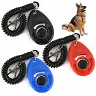Dog Pet Training Clicker Trainer Teach Reward Treat Tool Stretch Cable Keyring