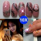 1/5/10x NFC Nail Art Sticker With LED Light Flash Affixed Scintillation Tips Hot
