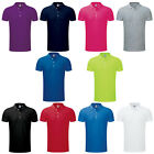 New Men's Russell Stretch Polo Slim Fit With Contrast Button Plack Size S - 3XL