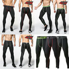 Men Compression Pants Base Layer Skin Tights Running Fitbess Workout Plain Style