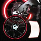 "16/17/18/19"" Reflective Rims Tape/Wheel Rim Decal Stripes Sticker Glowing Red"
