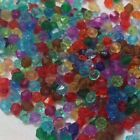 800- 1200 BICONE FACETED TRANSPARENT ACRYLIC SPACER BEADS *21 COLOURS 3MM 4mm