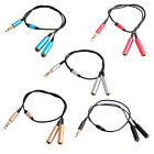 3.5mm Male to 2 Female Headphone Audio Video Stereo Cable Extension Cord