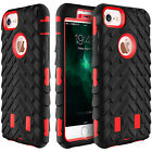 Hybrid Armor Rubber Shockproof Slim Heavy Duty Cover Case For iPhone 7 6 6s Plus