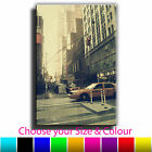 New York Vintage Taxi Single Canvas Wall Art Picture Print 30