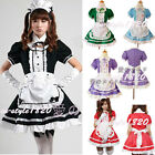 Sexy Cosplay Costume Maid Outfits Dress Set Apron Halloween Party Xmas 5 Colors