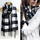 New Women's Man's Solid Long Cashmere Wool Blend Soft Warm Wrap Shawl Scarf