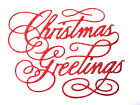 "8 ""Christmas Greetings"" Sentiment/Words Die Cuts, Tattered Lace.Any Colour/Card"