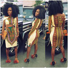 2PC Tops SHIRT Women Boho MiniDress African Sexy Bodycon Camisole Evening Party