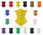 26 Double Steel Boned Waist Training Cotton Underbust Shaper Corset #8523-TC