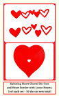 5 Spinning Charm Heart Die Cuts & 5 Heart Borders 10 Total! Anniversary, Love