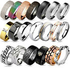 Kyпить Damen Ring Herren Ring Edelstahl Ring Band Ring Partnerringe Fingerring RS56 на еВаy.соm