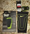 NEW Men S M L XL NIKE Pro Combat Compression Black Padded Basketball Shin Sleeve