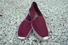 Burgundy Spanish traditional ropesole canvas espadrilles unisex-handmade inSpain