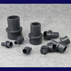 """PVC Connector Barb Fitting Hose Pipe Tubing Coupler Solvent Welding 3/8 1/2 1"""""""