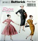 Butterick Sewing Pattern 5813 Retro 50s Ladies Full or Wiggle Dress Pick Size