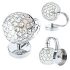 Modern Silver Crystal LED Wall Light Lamp Sconce Fitting Bedroom Dining Room