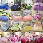 Single Double King Duvet Cotton Cover Pillow Case Quilt Cover Bedding Set US