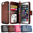 Premium Wallet Leather Purse Cards Magent Case Cover for Apple iPhone 6 6S 4.7""