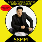 THE OSMONDS- DONNY -58 mm BADGE-FRIDGE MAGNET OR HANDBAG MIRROR -CD12345