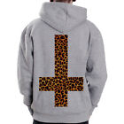 Inverted Cross-Leo symbol Heavy Blend 50/50 Grey Zip Hoodie Hoody Sweatshirt
