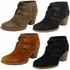 Ladies Clarks Carleta Lyon Suede Lace Up Ankle Boots
