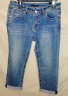 ROZ & ALI Medium Wash Denim Capri Crop Jean with Cuffs WOMEN SIZES NWT