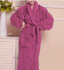 Coral Fleece Bathrobe Ladies Bath Robe Women Men Towelling long Dressing Gown