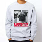PUG LIFE#2 dog animal fashion hipster Grey Heavy Blend Crewneck Sweatshirt