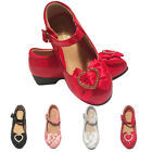 GIRLS CHILDREN KIDS BOW WEDDING BRIDESMAID PARTY SANDALS SHOES SIZE 7-3