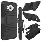 For Samsung Galaxy Shockproof Hybrid Rubber Armor Belt Clip Holster Case Cover