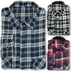 FENTON BRUSHED FLANNEL WORK SHIRT MENS LUMBERJACK CHECKED 100% COTTON CASUAL
