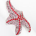 Starfish Asteroidea Sea Life Ocean Cocktail Ring Crystal Pink Jewelry #5 7 8 New