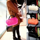 Lady's Purse Cute Lovely Winter Fur Leather Handbag Women Single Shoulder Bag