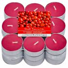 PACK OF 27 RED BERRIES SCENTED TEA LIGHTS BRAND NEW